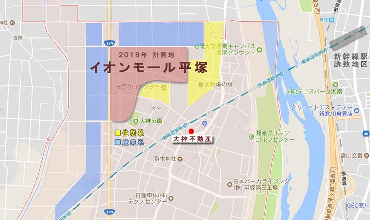 大神ツインシティまちづくり計画周辺地図